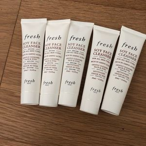 FRESH cosmetics soy face cleanser bundle x 5